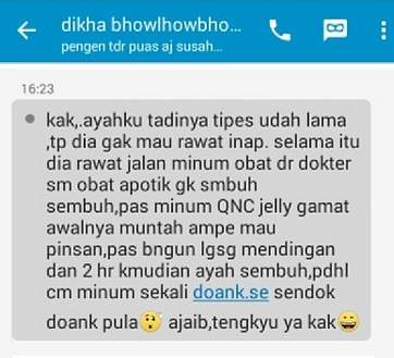 Image result for real testimoni pengguna qnc